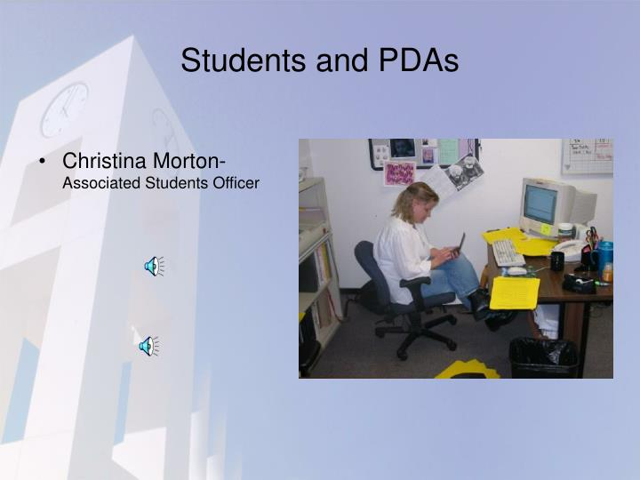 Students and PDAs