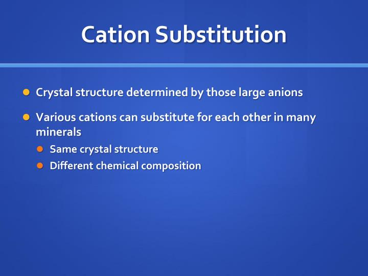 Cation Substitution