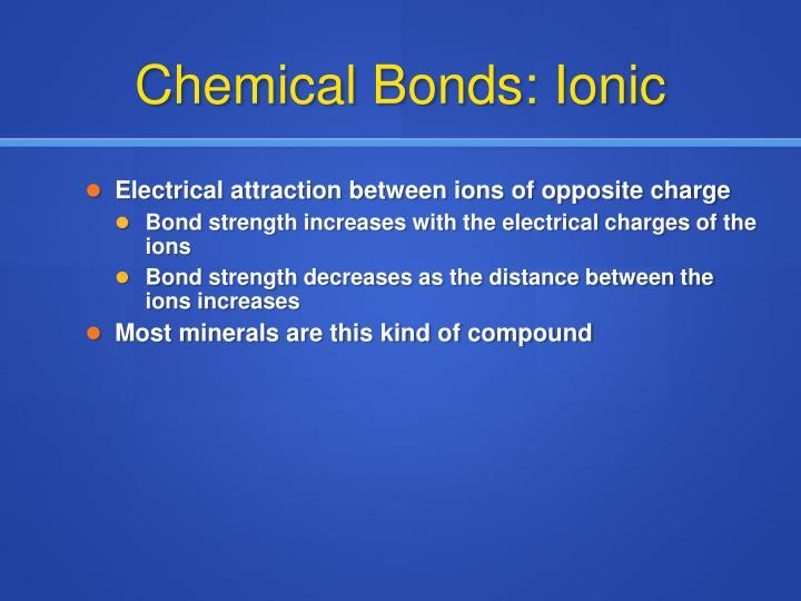 Chemical Bonds: Ionic