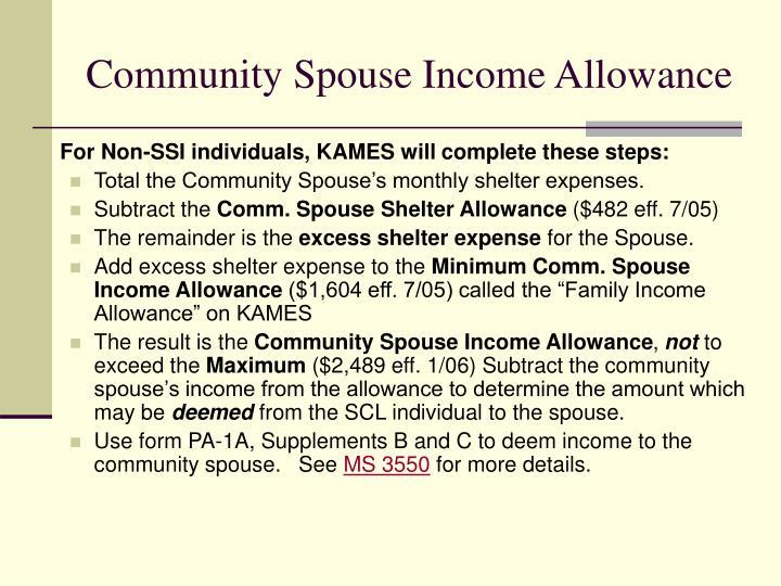 Community Spouse Income Allowance