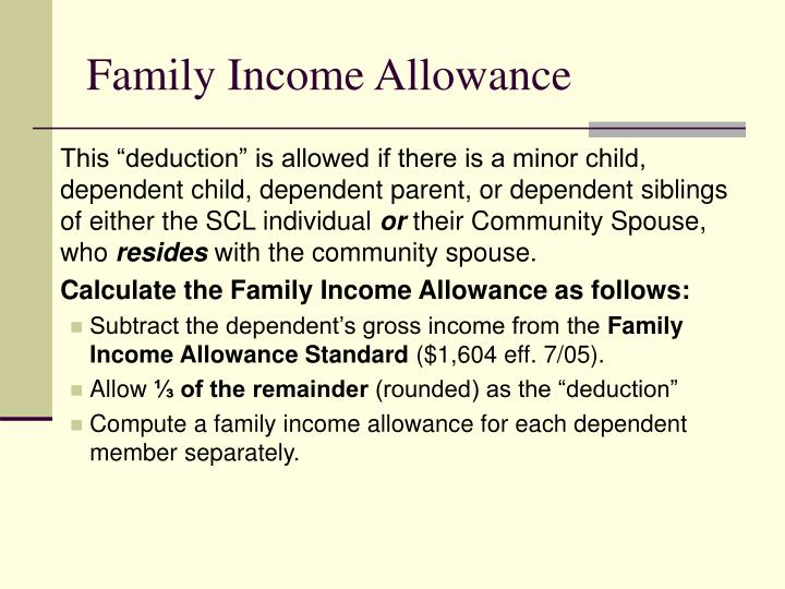 Family Income Allowance