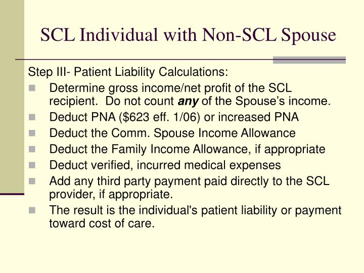 SCL Individual with Non-SCL Spouse