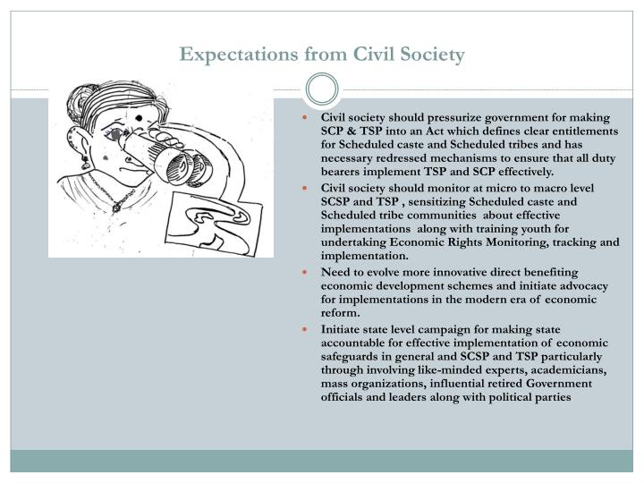 Expectations from Civil Society