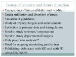 issues of concern and future direction