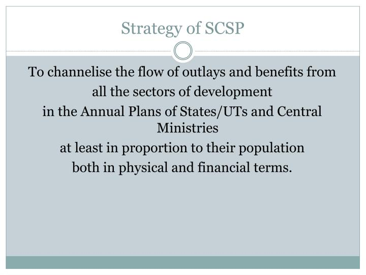 Strategy of SCSP