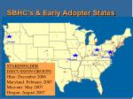 sbhc s early adopter states