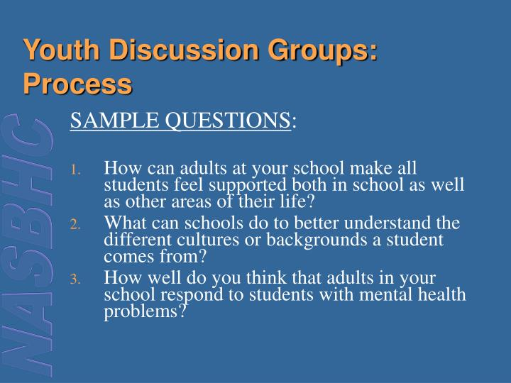 Youth Discussion Groups: Process