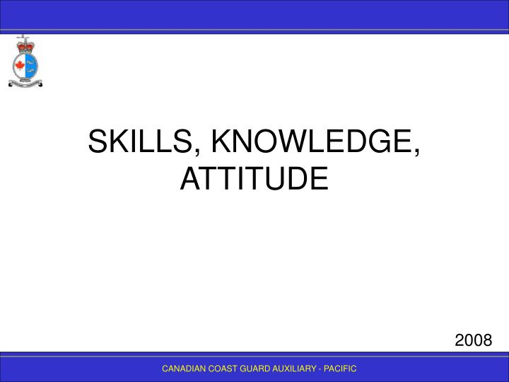 skills knowledge attitude