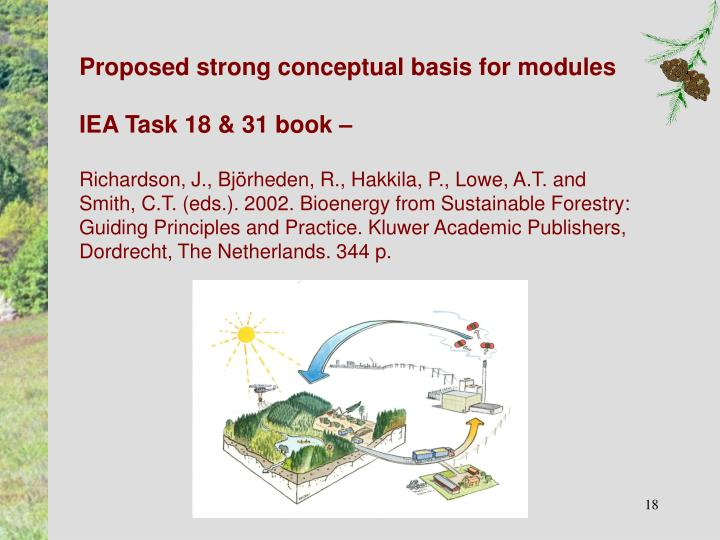 Proposed strong conceptual basis for modules