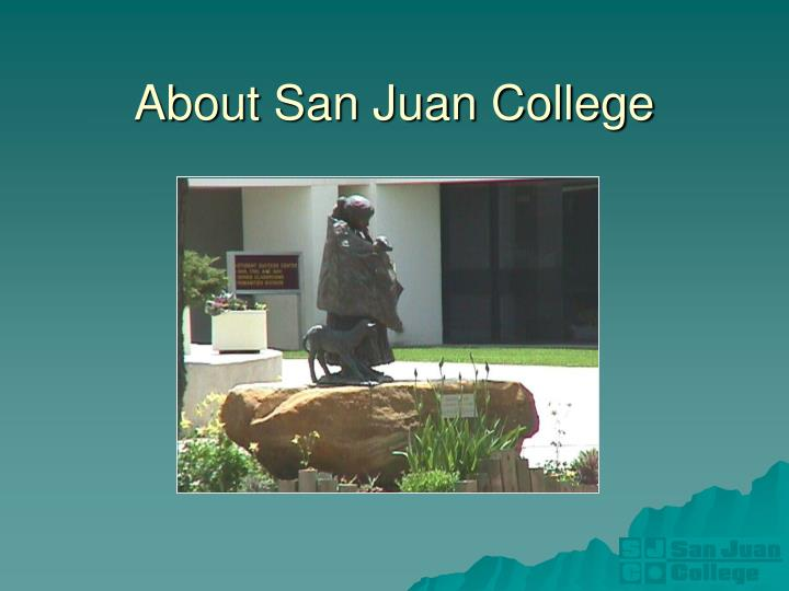 About San Juan College