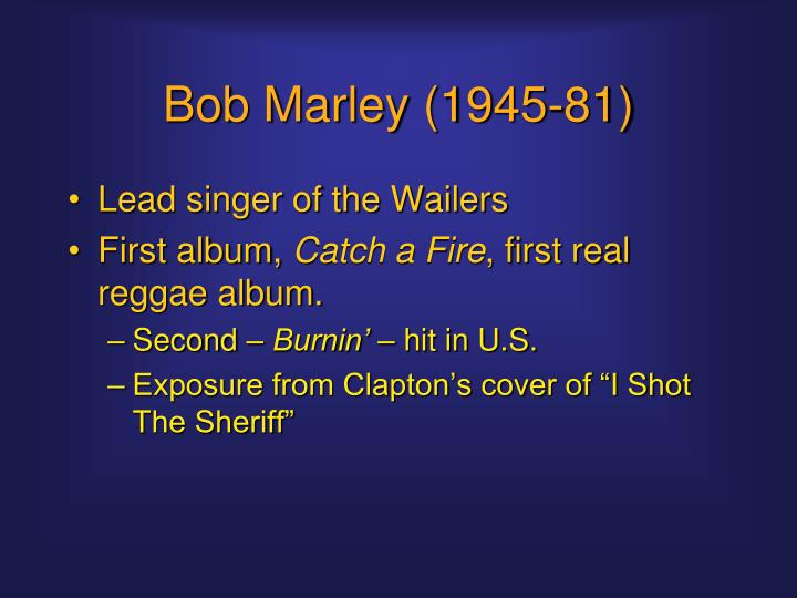 Bob Marley (1945-81)