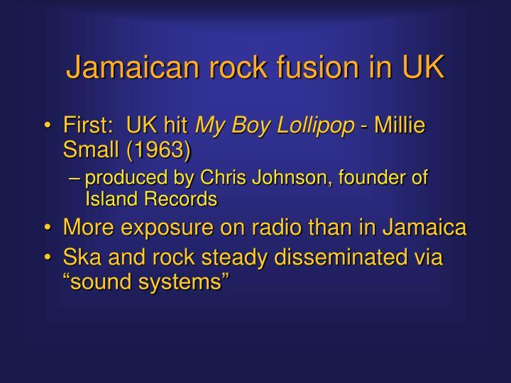 Jamaican rock fusion in UK