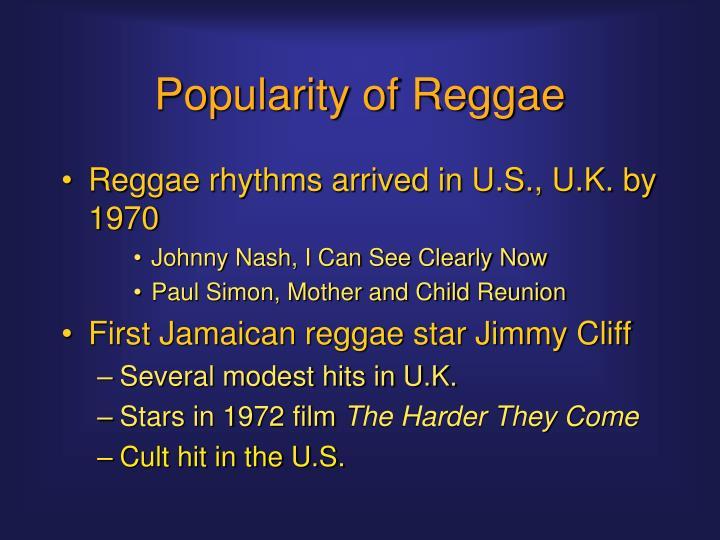 Popularity of Reggae