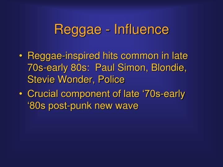 Reggae - Influence