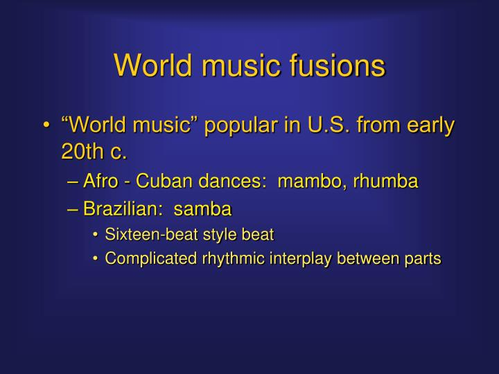 World music fusions