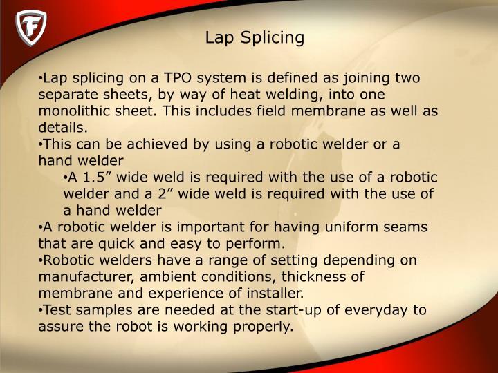 Lap Splicing