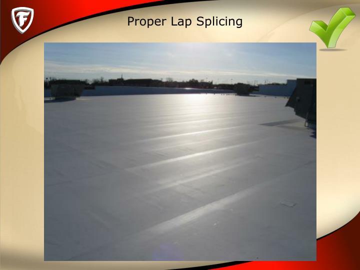 Proper Lap Splicing