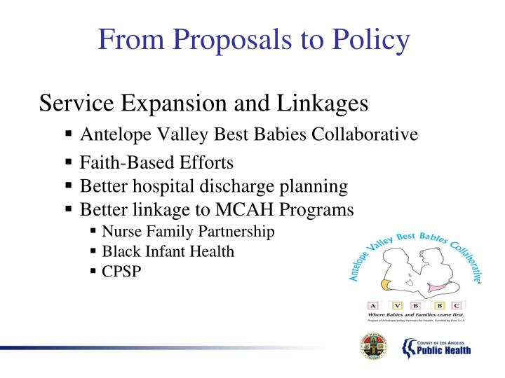 Service Expansion and Linkages