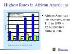highest rates in african americans