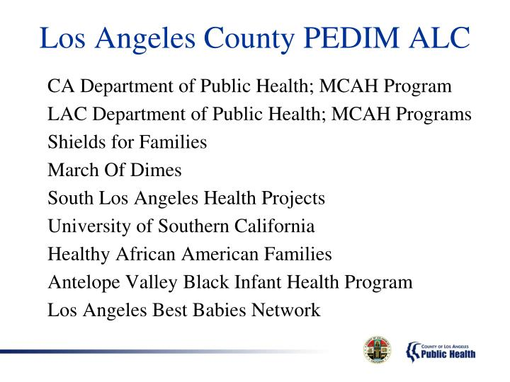 Los Angeles County PEDIM ALC