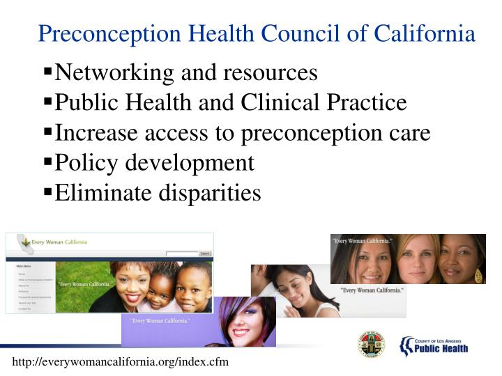 Preconception Health Council of California