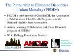 the partnership to eliminate disparities in infant mortality pedim