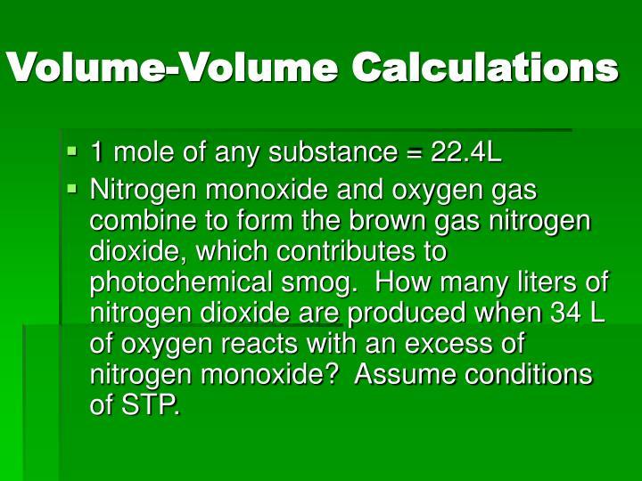 Volume-Volume Calculations