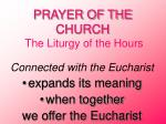 prayer of the church the liturgy of the hours