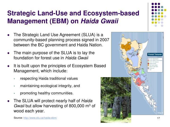 Strategic Land-Use and Ecosystem-based Management (EBM) on