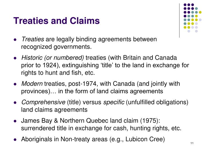 Treaties and Claims