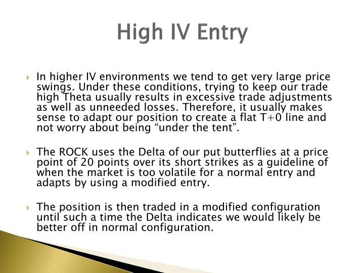 High IV Entry