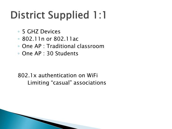 District Supplied 1:1