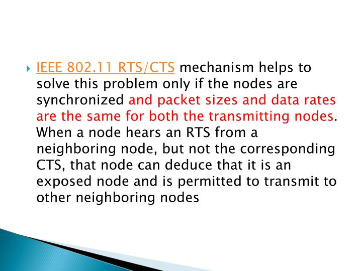 IEEE 802.11 RTS/CTS