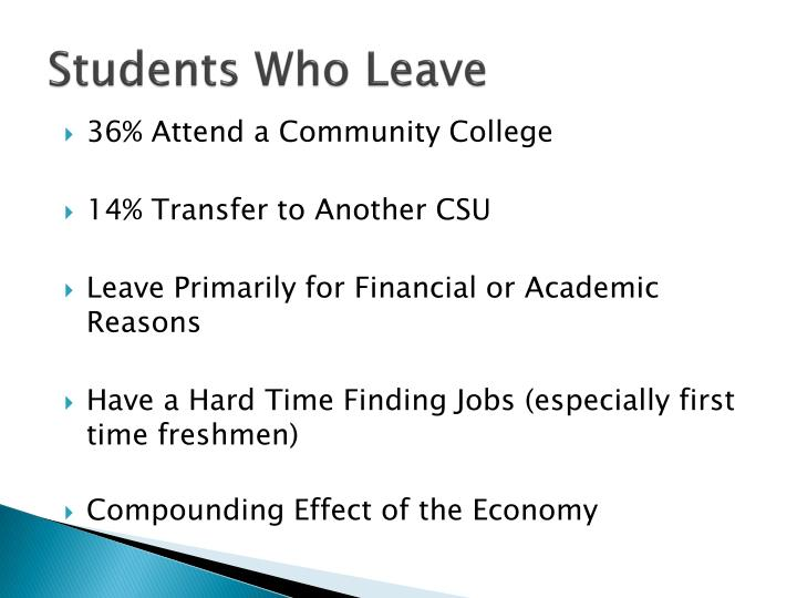 Students Who Leave