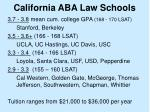 california aba law schools