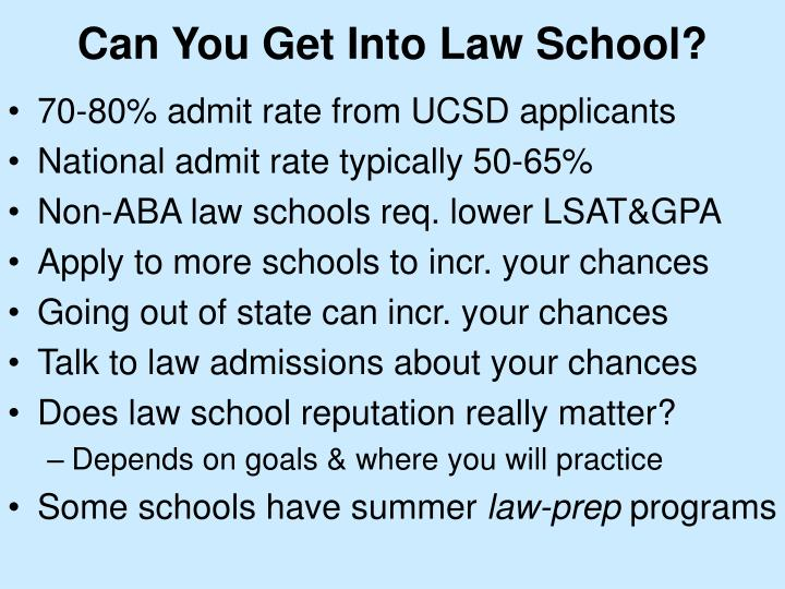 Can You Get Into Law School?