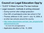 council on legal education opp ty