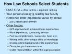 how law schools select students