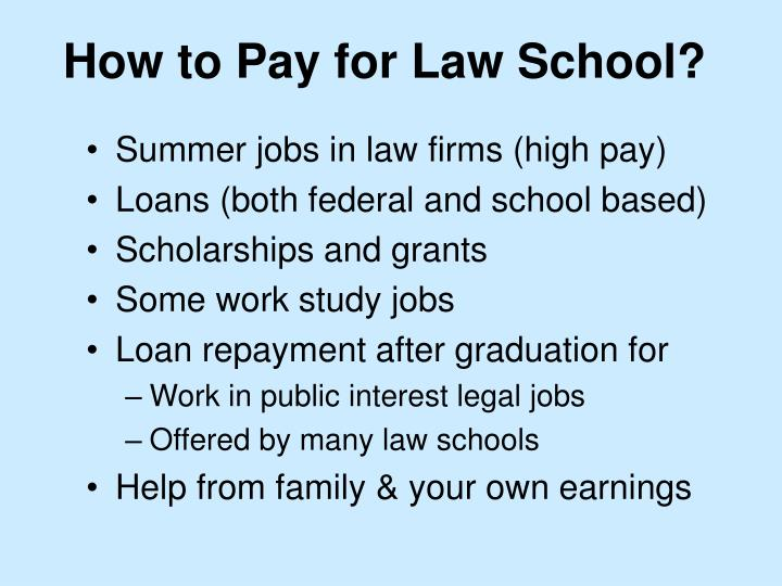 How to Pay for Law School?