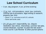 law school curriculum