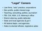 legal careers