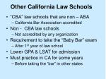 other california law schools