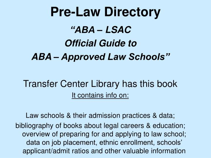 Pre-Law Directory