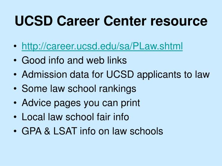 UCSD Career Center resource