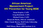 african american mpowerment project hiv prevention for young msm