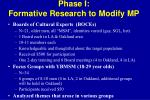 phase i formative research to modify mp