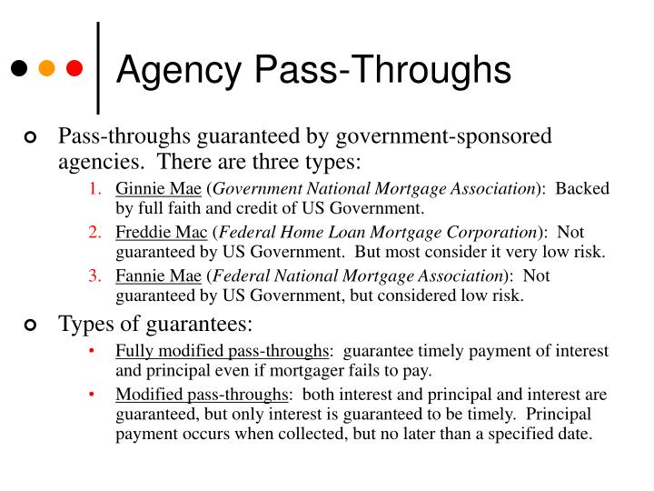 Agency Pass-Throughs