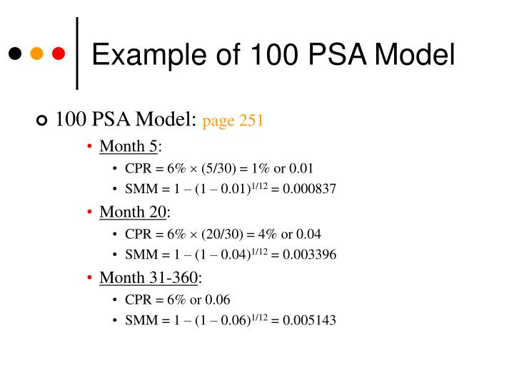 Example of 100 PSA Model