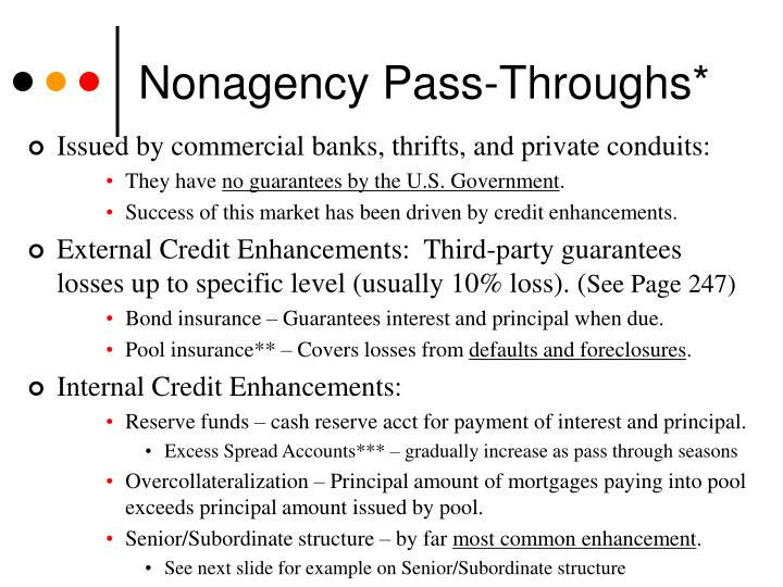 Nonagency Pass-Throughs*