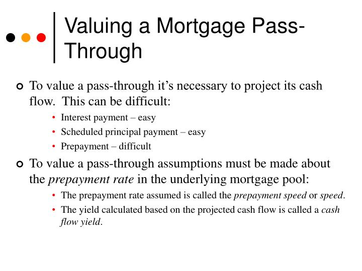 Valuing a Mortgage Pass-Through